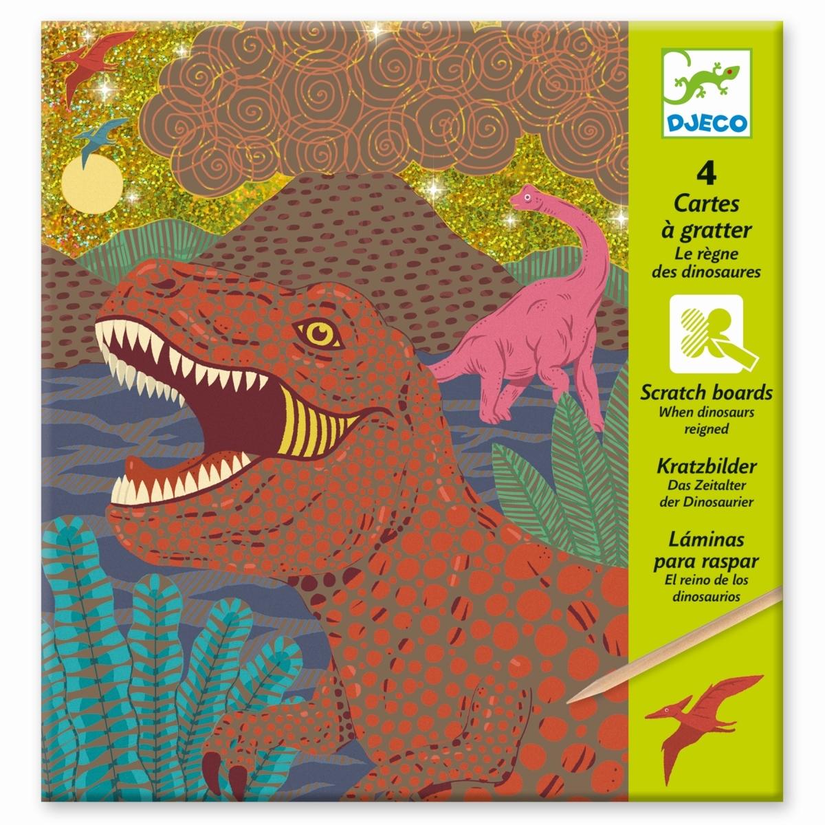Djeco Kratzbilder Dinosaurier, ab 6 Jahren