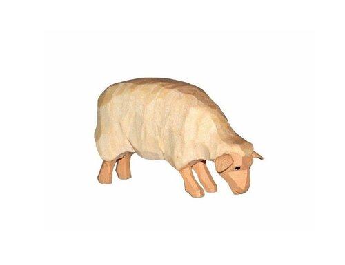 Sievers-Hahn Krippenfigur helles Schaf, fressend