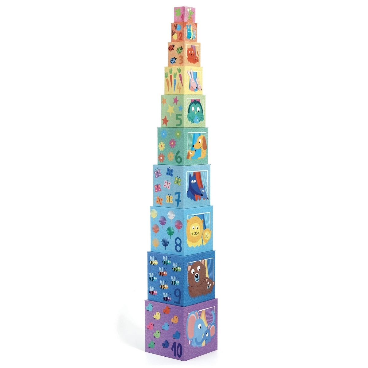 Djeco Stapelturm Regenbogen ab 1 Jahr