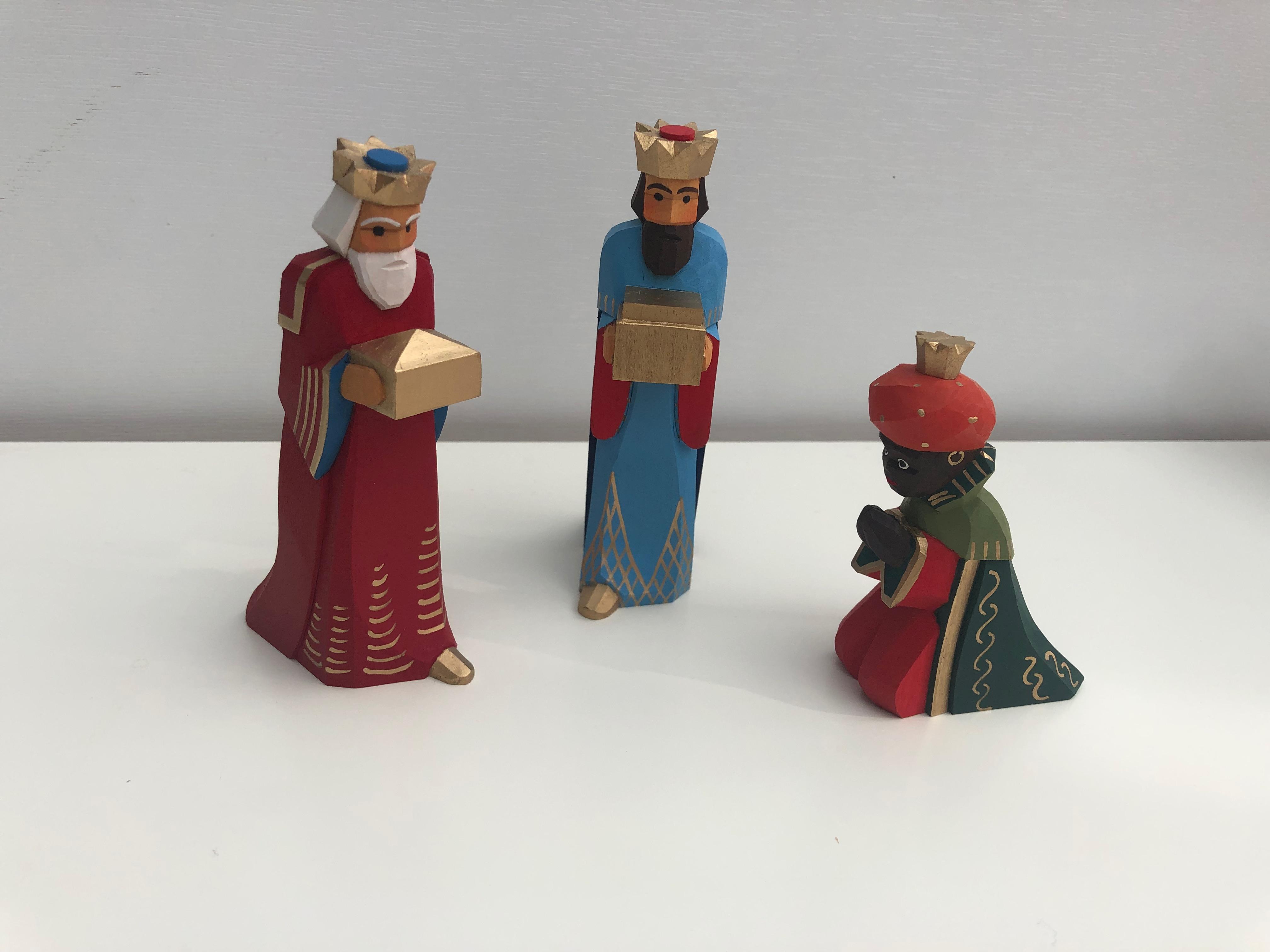 Sievers-Hahn Krippenfiguren Set mit den Heiligen Drei Königen Caspar, Melchior und Balthasr