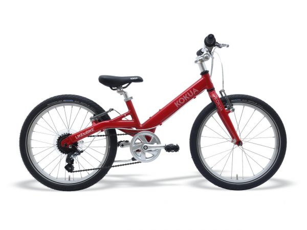 Kokua LIKEtoBIKE Kinderfahrrad, 20 Zoll, mit 2 Vorderradbremsen, rot