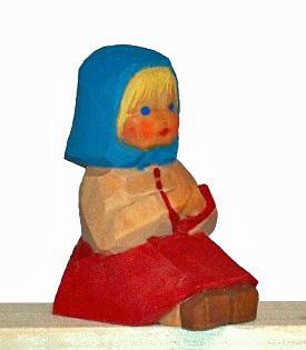 Sievers-Hahn Krippenfigur Mädchen sitzend