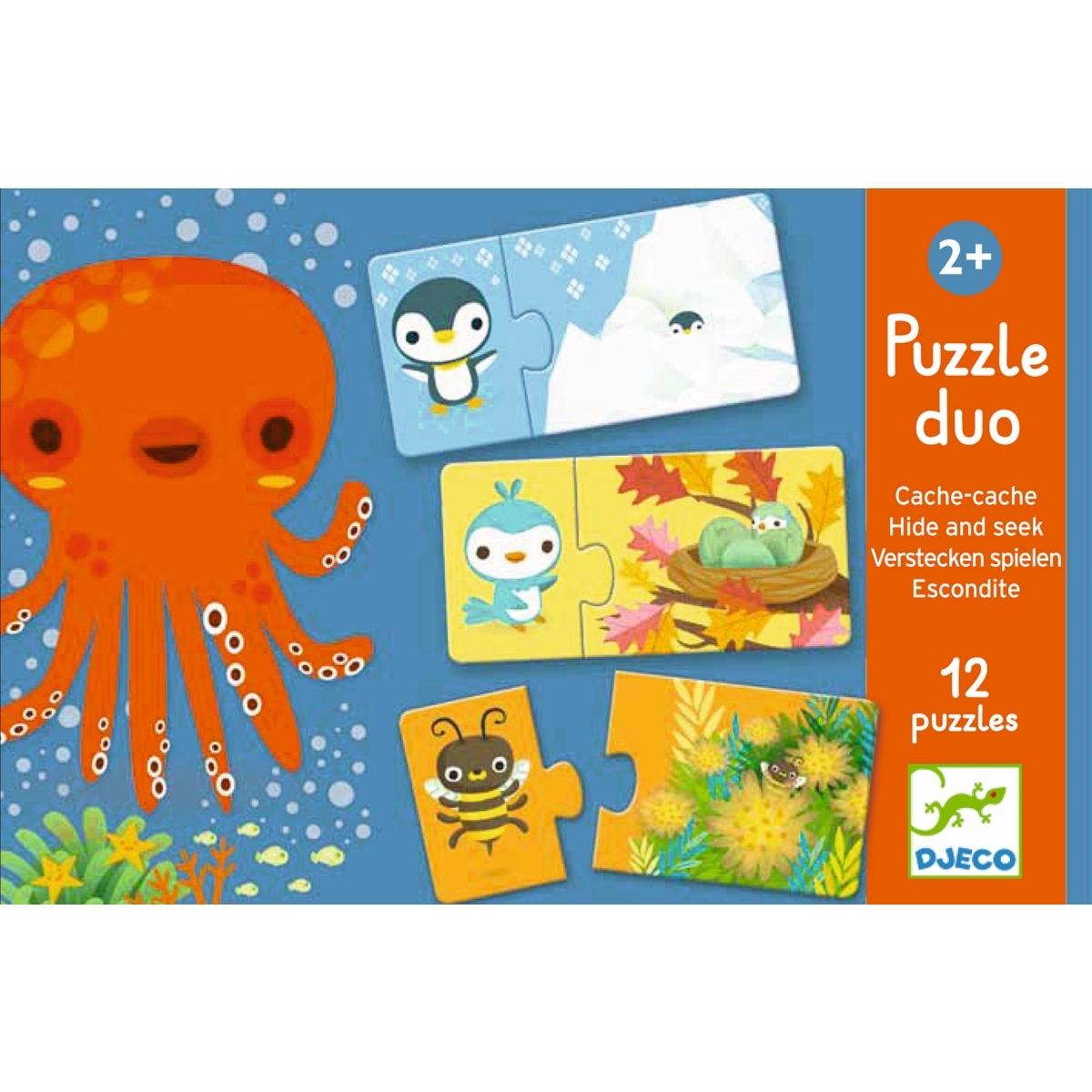 Djeco Puzzle duo Verstecken ab 2 Jahren