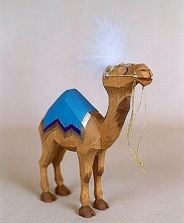 Sievers-Hahn Krippenfigur Kamel stehend  aufgezäumt, 21 cm hoch Art. 1181
