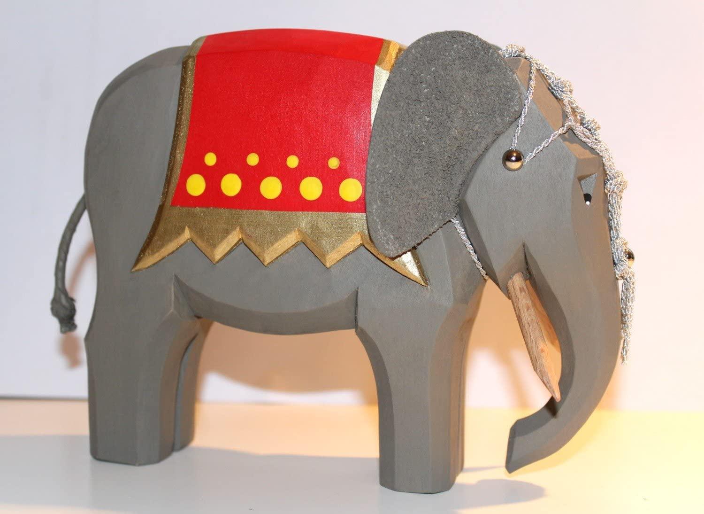 Sievers-Hahn Krippenfigur Elefant groß, aufgezäumt, 13cm, Art.1201