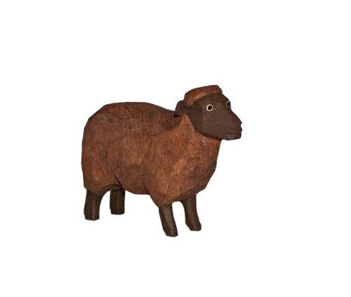 Sievers-Hahn Krippenfigur Schaf dunkel, Kopf hoch